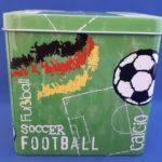 Fussball Spieluhr Blechdose