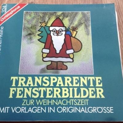 Transparente Fensterbilder zur Weihnachtszeit