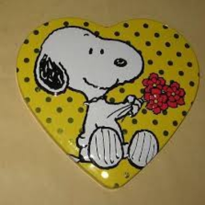 Snoopy Herzblechdose